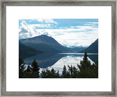 Rare Moment On Tutchi Lake Framed Print by Janet  Hall