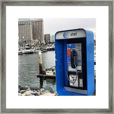 #rare #sighting #oldschool #pay #phone Framed Print