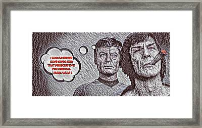 Rare Star Trek Parody Framed Print by Pd