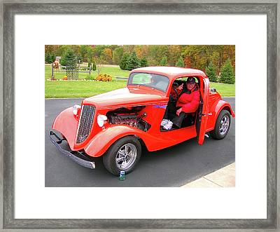 Raring To Cruise Framed Print by Randy Rosenberger