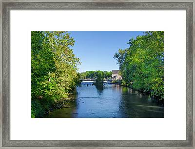 Raritan River - Clinton New Jersey  Framed Print by Bill Cannon