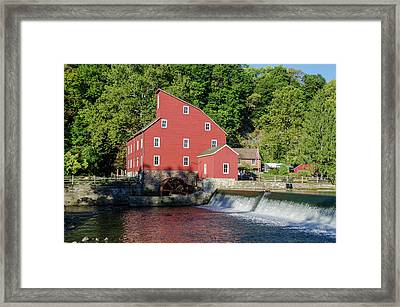 Rariton River And The Red Mill - Clinton New Jersey Framed Print by Bill Cannon