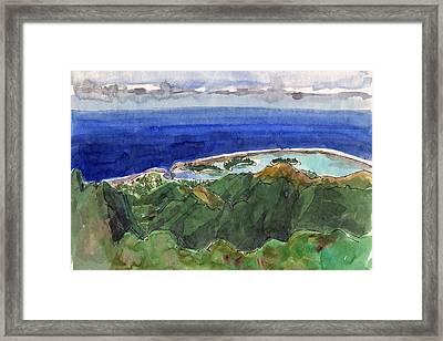 Rarotonga, View From Te Manga Framed Print