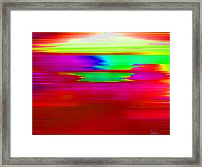 Rasberry Delight Framed Print by Sula Chance