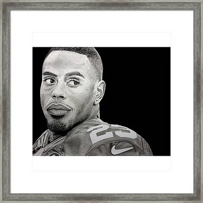 Rashad Jennings Drawing Framed Print by Angelee Borrero
