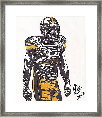 Framed Print featuring the drawing Rashard Mendenhall 2 by Jeremiah Colley