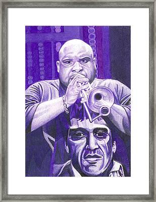 Rashawn Ross Framed Print by Joshua Morton
