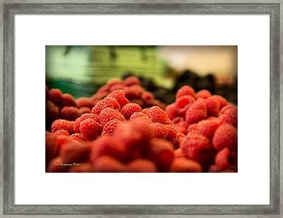 Raspberries At The Market Framed Print