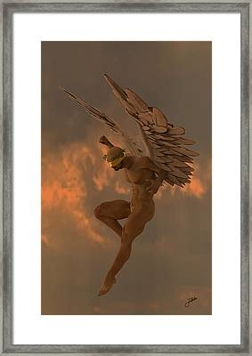 Raspberry Angel Framed Print