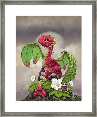 Framed Print featuring the digital art Raspberry Dragon by Stanley Morrison