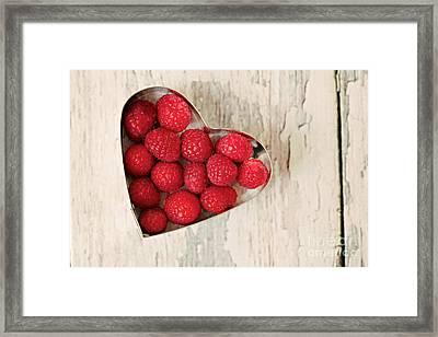 Raspberry Heart Framed Print