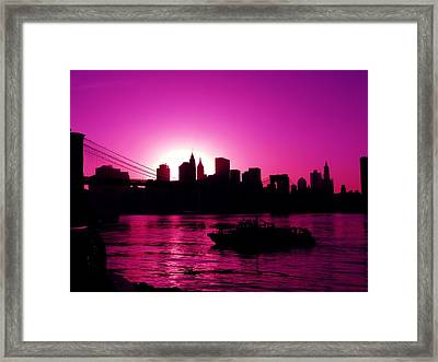 Raspberry Ice In Silhouette Framed Print