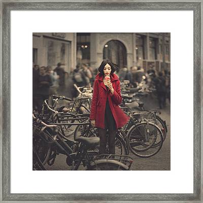 raspberry sorbet in Amsterdam Framed Print