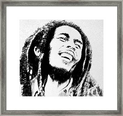 Rasta Man Framed Print by Robbi  Musser