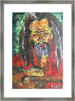 Rasta Man Framed Print by Sladjana Lazarevic