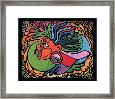 Rasta Queen Framed Print