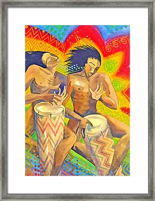 Rasta Rythm Framed Print by Jennifer Baird