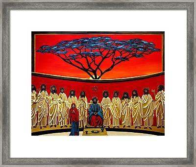 Rastafarian Last Supper Framed Print by EJ Lefavour