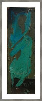 Rat Called Ben Framed Print by Brooks Blackwood