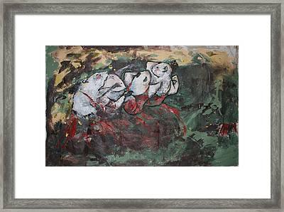 Rat Dancers Framed Print by Danielle Wilbert