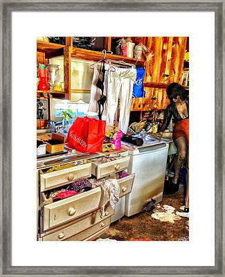 Rat In The Back Framed Print by Bob Winberry
