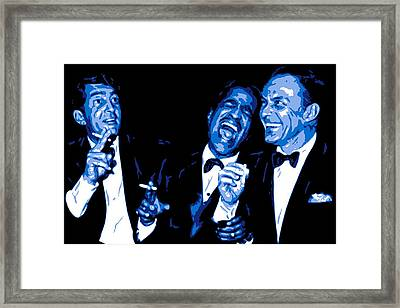 Rat Pack At Carnegie Hall Framed Print by DB Artist