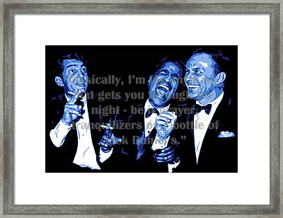 Rat Pack At Carnegie Hall With Quote Framed Print by DB Artist