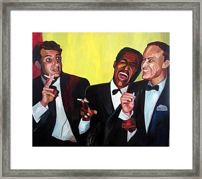 Rat Pack Framed Print by Carmen Stanescu Kutzelnig
