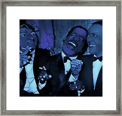Rat Pack Cool Graphic Abstract Framed Print by Dan Sproul