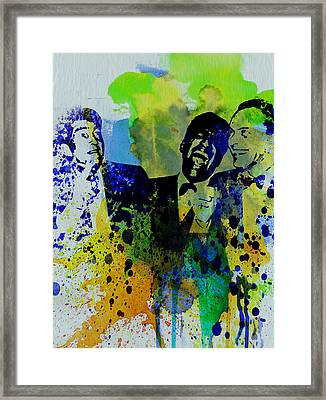 Rat Pack Framed Print by Naxart Studio
