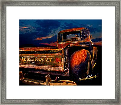 Rat Rod Chevy Truck Framed Print