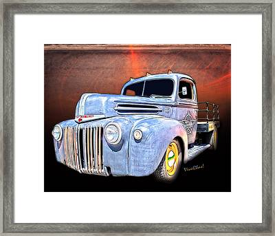 Rat Rod Flatbed Truck Texana Framed Print