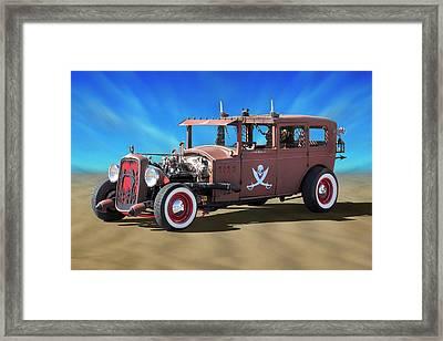 Rat Rod On Beach 3 Framed Print by Mike McGlothlen