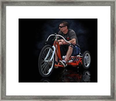 Rat Rod Trike .... Framed Print