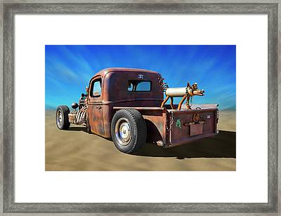 Framed Print featuring the photograph Rat Truck On Beach 2 by Mike McGlothlen