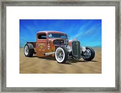 Rat Truck On The Beach Framed Print by Mike McGlothlen