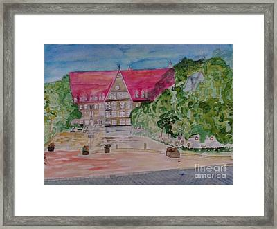 Rathaus Stadt Bobingen Framed Print by Alexander Christian Schilder