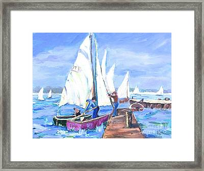 Rather Be Sailing Framed Print