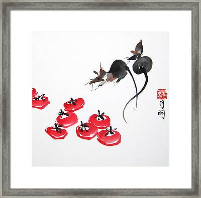 Rats In Raid Framed Print by Ming Yeung