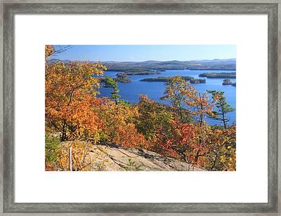 Rattlesnake Cliffs Squam Lake Framed Print