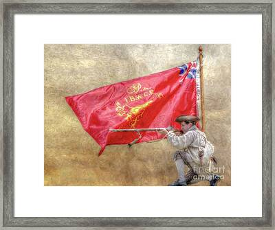 Rattlesnake Flag Of The Ibwcp  Framed Print by Randy Steele