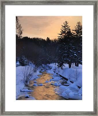 Rattling Creek At Dawn Framed Print by Lori Deiter