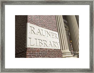 Rauner Library Dartmouth College Framed Print by Edward Fielding