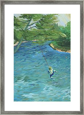 Raurri The Sandbanks And The Tree That Broke My Heart Framed Print