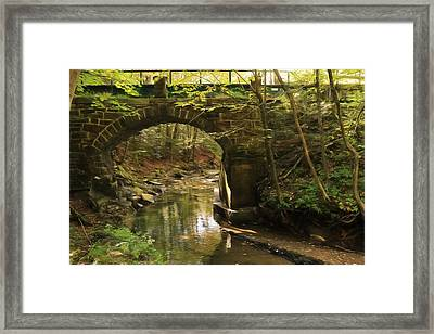 Rausch Gap Bridge Framed Print by Lori Deiter