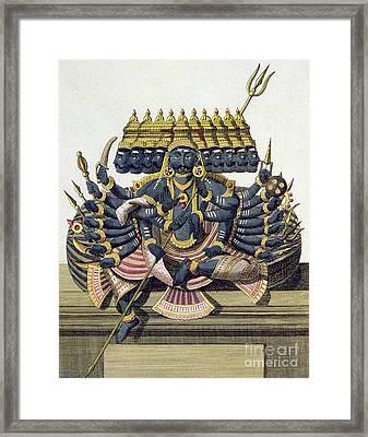 Ravana, Demon King Of Ceylon Framed Print