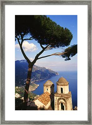 Ravello Italia Framed Print by Carlos Diaz
