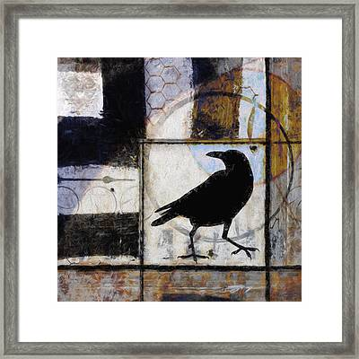 Raven Ahead Of Time Framed Print by Carol Leigh