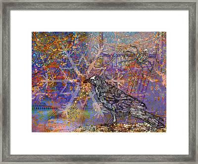 Raven And Spider Framed Print