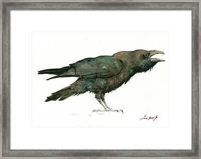 Raven Bird Framed Print by Juan Bosco